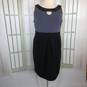 Le Bos Empire A-Line Shift Dress Career Size 22W